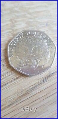 Mrs Tiggy Winkle rare 50p coin