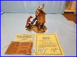 NEW 1980 Schmid Lowell Davis Up To No Good Figurine Fox Hen House Chicken