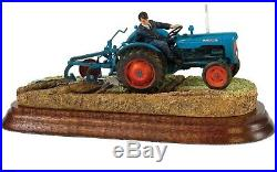 New Border Fine Arts Farming Fordson Tractor With Plough Model Is Up To Scratch