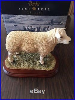 New Border Fine Arts Large Texel Ewe Ram sheep limited ed. B0530