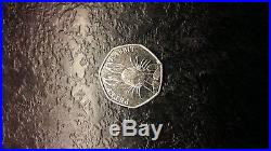 Peter Rabbit Half Whisker Rare 50p coin Beatrix Potter