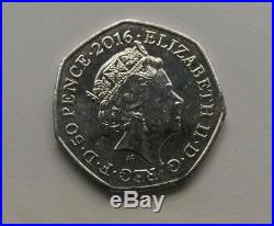 Peter Rabbit half whisker rare 50p Fifty Pence Coin Collectable circulated 2016