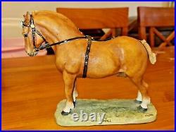 Rare Border Fine Arts Ann Wall 1985 Limited Edition Horse Suffolk Punch 212/350