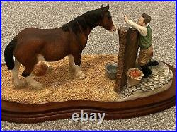 Rare Border Fine Arts B0201 Next Generation Horse In Stable Foul Made Scotland