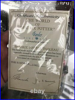 Rare Border Fine Arts Beatrix Potter Tableau #669814 Rare Boxed Mint 1701/2000