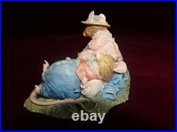 Rare Border Fine Arts Brambly Hedge Lord And Lady Woodmouse Resting