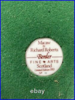 Rare Border Fine Arts Red Macaw Excellent Boxed LE 11/950