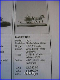 Rare Border Fine Arts Scotland Market Day By Elizabeth MacAllister Ltd Edt