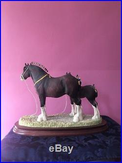 Rare Border Fine Arts The Champion Mare and Foal Shire Horse