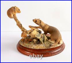Rare Border fine arts Stoat & Vole Ltd Ed. 184/300 Anne Wall 1979 (Weasel, Mouse)