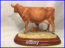 Rare Cattle Breeds A1465 Jersey Cow & New Calf 2003 Enesco ltd Border Fine Arts