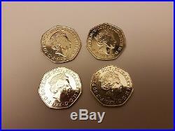 Rare Collectors Collectio of 4 Beatrix Potter 2017 50p coins excellent condition