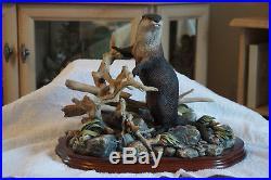 Rare Limited Edition of 250 Border Fine Arts River Sentinel (Otter) B0362 Certif