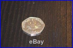 Rare Peter Rabbit 50p coin Beatrix Potter