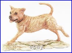 Staffordshire Bull Terrier Dog Figurine Border Fine Arts- Hand Made in Scotland