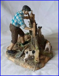 Superb 1981 Border Fine Arts Farmer With Jack Russell's Limited Edition 43/1750
