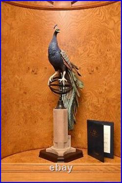 Superb Border Fine Arts Regal Splendour model of a Peacock rrp £2000
