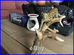 Teviotdale Vintage Figurine Jaguar/leopard in Tree Signed T. MACKIE, LTD EDITION
