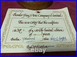 Very Rare Border Fine Arts Hayton Figurine Doormice Ltd Ed Bfa + Certificate